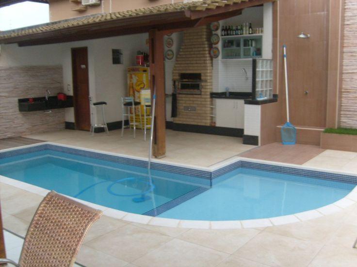 Resultado de imagem para piscina de fibra para quintal pequeno
