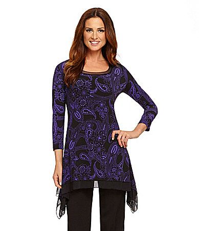 Investments Paisley Asymmetrical Tunic #Dillards