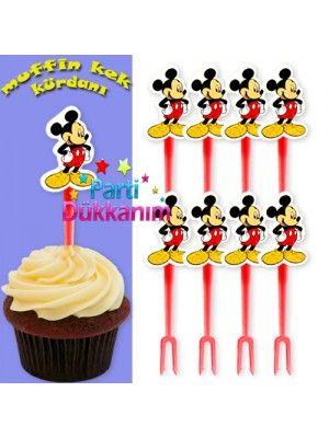 Mickey  Mouse Kürdan (8 Adet)