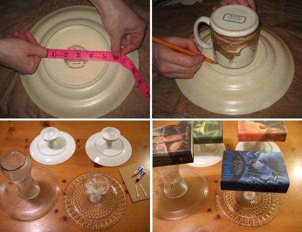 процесс изготовления подставки для тортов своими руками