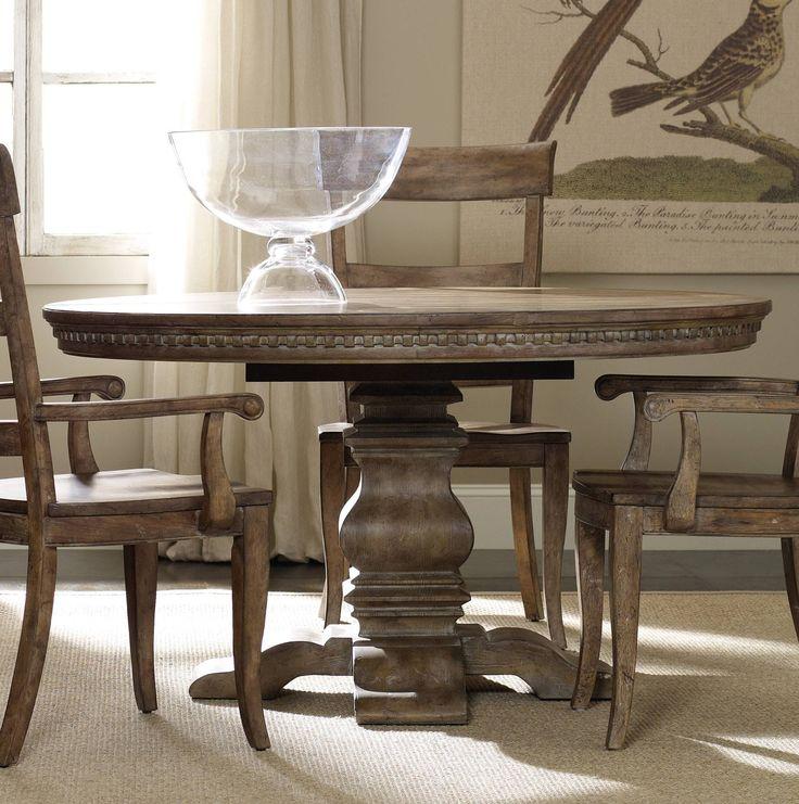 """Hooker Furniture Sorella Pedestal Dining Table w/1-20"""" leaf 5107-75203"""