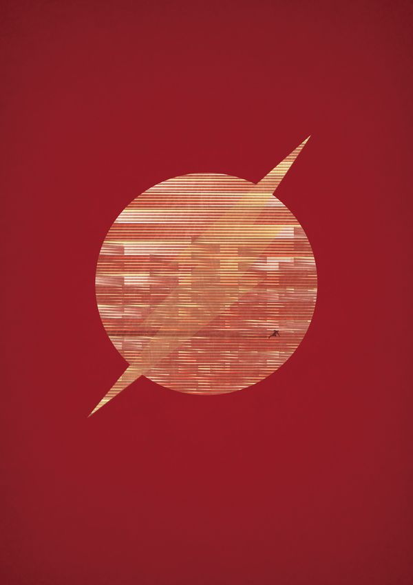 Flash - DC / Marvel Superheroes Posters by Alex Litovka, via Behance
