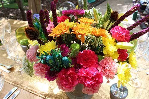 Summer inspired flowers arrangement #makeitamomenttoremember
