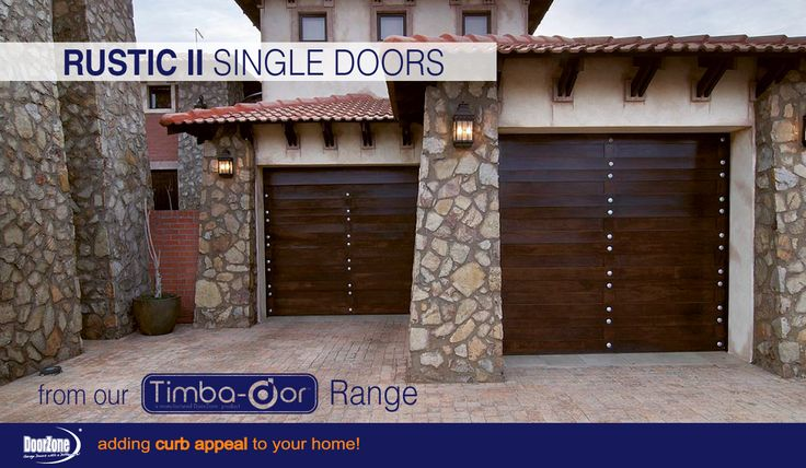 Adding to our range of Rustic sectional garage doors, we brought you the Rustic II design. Twice the strength of your standard Rustic giving you more of a contemporary, elegant & stylish look, these garage doors from our Timba-dor™ Range, are perfect to add curb appeal to your home. Not forgetting the d-force™ Automatic Overhead Garage Door Opener for that extra convenience and safety. www.doorzonesa.com