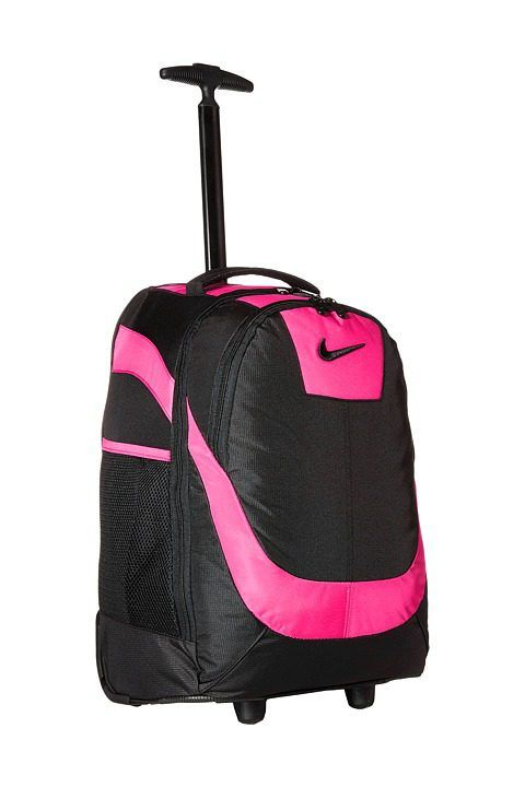 Nike Kids Rolling Backpack (Black/Vivid Pink) Backpack Bags - Nike Kids, Rolling Backpack, 9A2215A-KAA, Bags and Luggage Backpack, Backpack, Bag, Bags and Luggage, Gift, - Street Fashion And Style Ideas