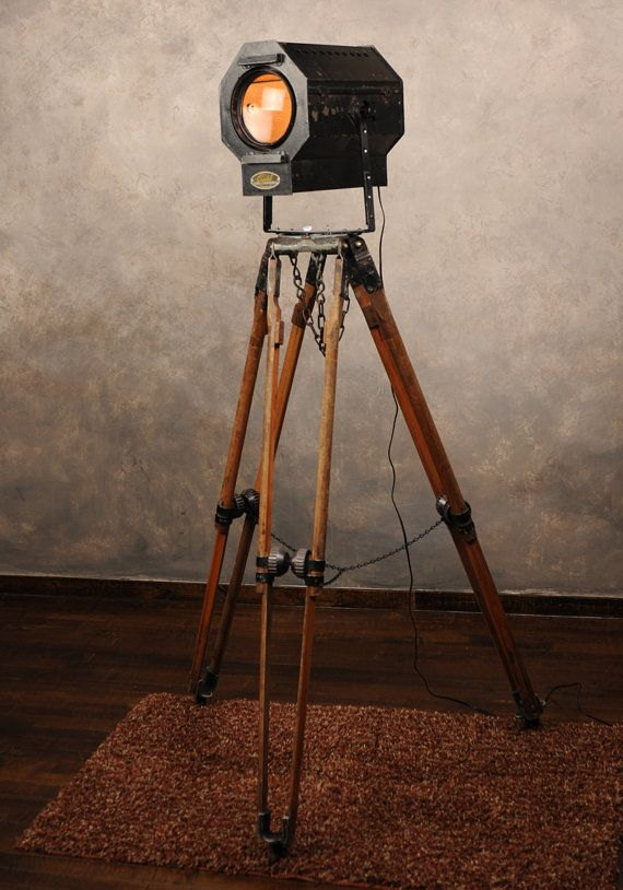 industrial floor lamp from vintage theater light by