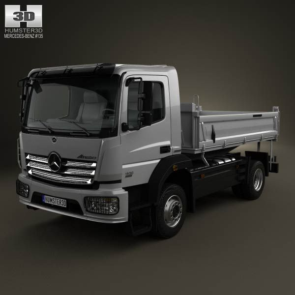 Mercedes-Benz Atego Tipper Truck 2013 3d model from humster3d.com. Price: $75