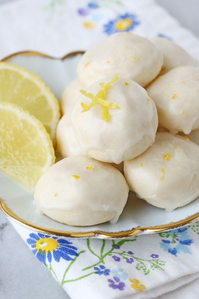 These Lemon High Tea Cookies are buttery, flavorful and melt-in-your-mouth delicious! A perfect recipe for a tea party, or a treat anytime!