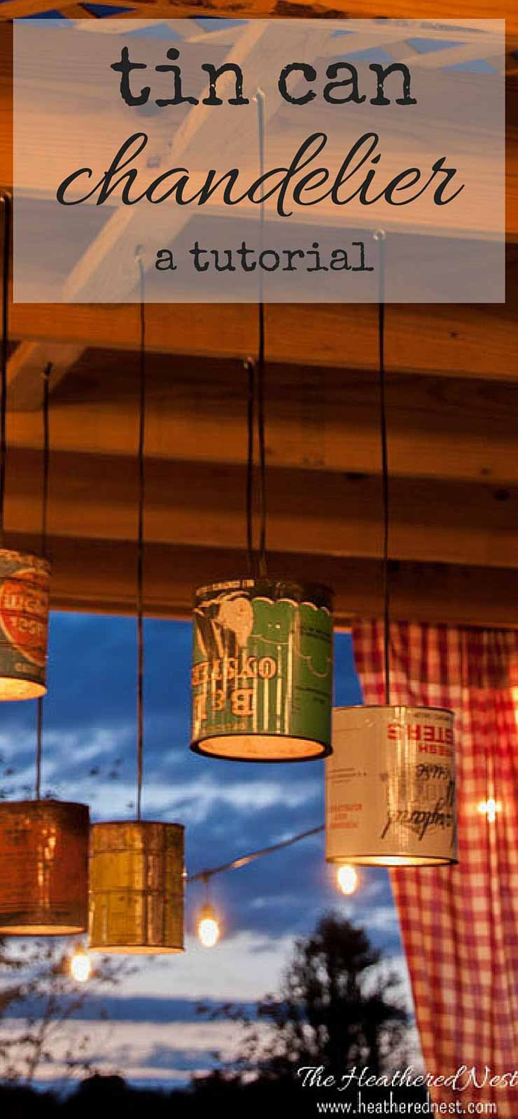 Lámparas de cocina hechas con botes de conservas