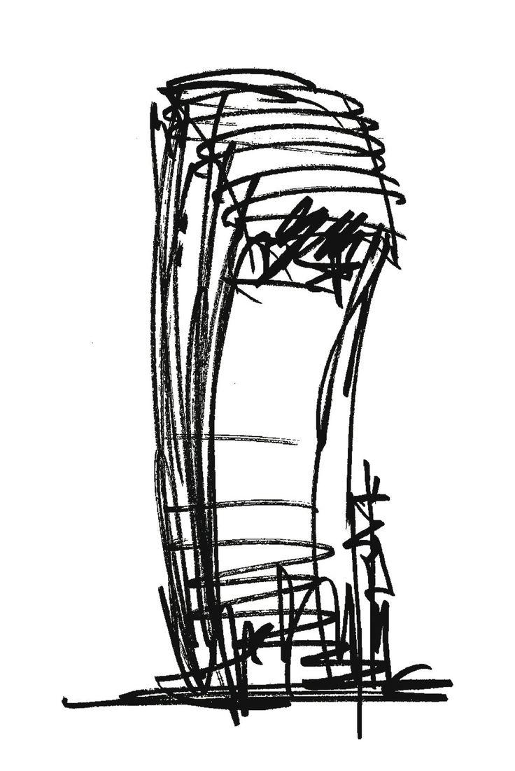 20 Fenchurch Street | Rafael Viñoly Architects | Rafael Viñoly sketch