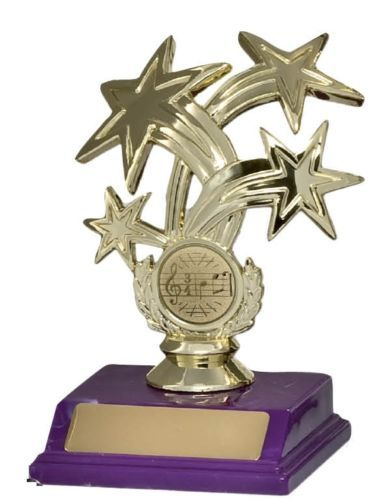 Dance Music Star Trophy 180mm Engraved Free | eBay