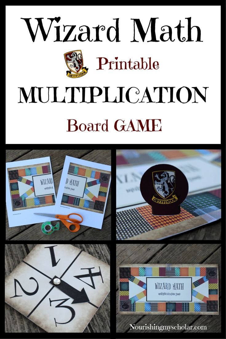 Wizard Math Printable Multiplication Board Game ...