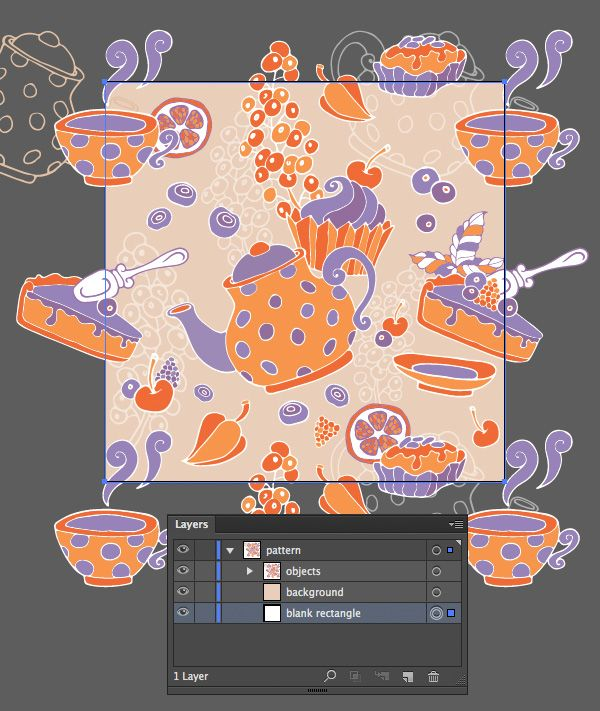 Create a tea party seamless pattern from a sketch in Adobe Illustrator - Tutorial on Tuts+ Design