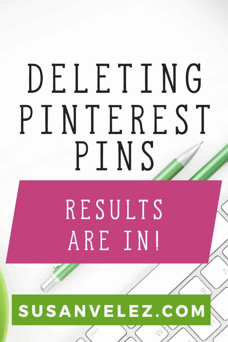 How to delete Pinterest pins and how it has given me more traffic. I've been deleting Pinterest pins for about 2 weeks now and this has improved my Pinterest reach and I've gotten more traffic just by deleting pins. https://susanvelez.com/how-to-delete-pinterest/