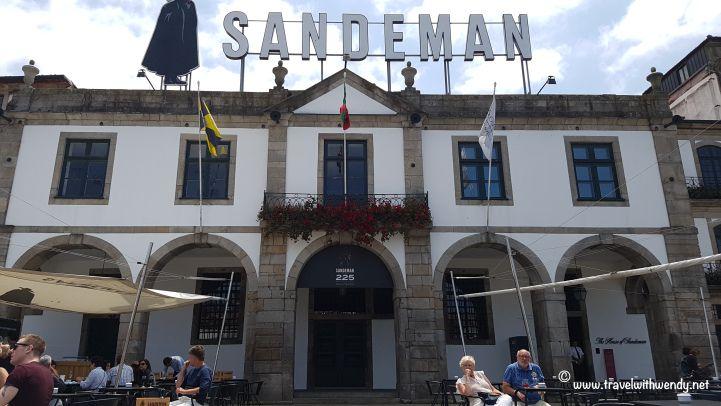 ©TravelwithWendy  Sandeman's Port Wine cellar Porto, Portugal www.travelwithwendy.net @tvlwendy