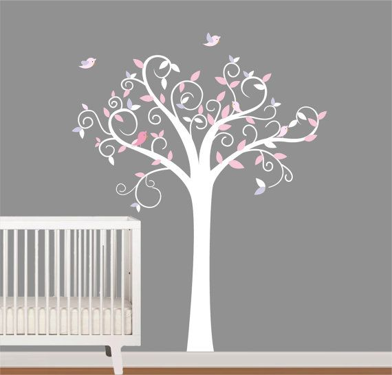 Children Vinyl Wall Decal Nursery Tree Stickers By NurseryWallArt, $79.99 Part 66