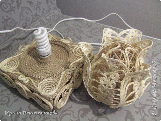 Декор предметов Моделирование конструирование Продолжение МК по светильнику Шпагат фото 19