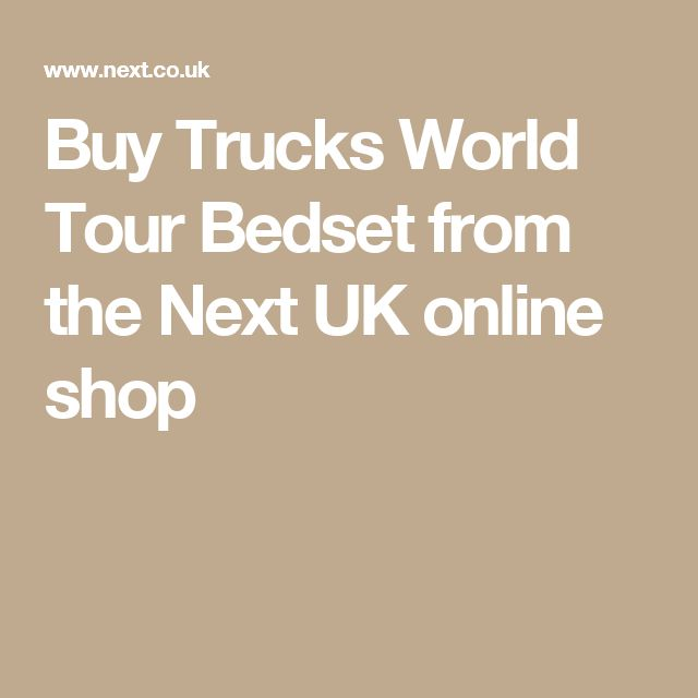 Buy Trucks World Tour Bedset from the Next UK online shop