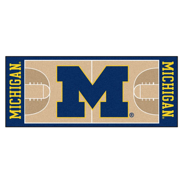 Michigan Wolverines Basketball Court Runner Rug