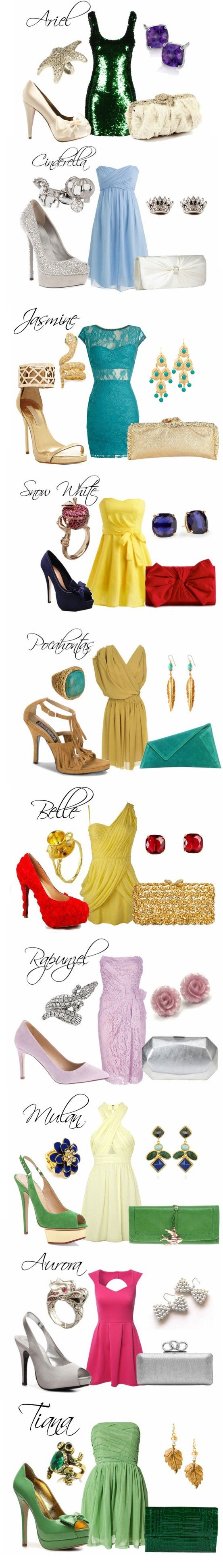 Modern Disney Princess Cocktail Dress Outfits created by lindseyy716.polyvore.com