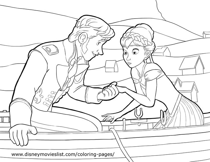hans and anna disneys frozen coloring pages sheet - Disney Frozen Coloring Book Pages