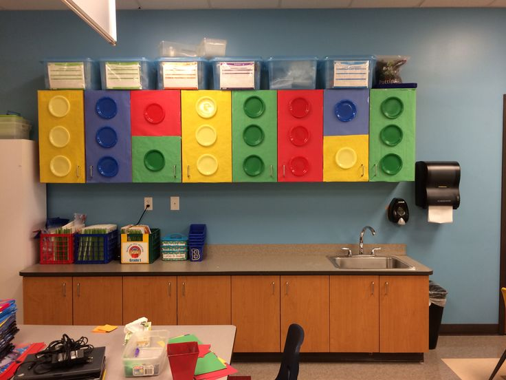 Music Teacher Classroom Decorations ~ Lego classroom theme cabinet coverings my