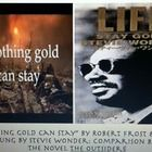 """The Outsiders Lesson:6th-8th grade English Comparison of the famous """"Nothing Gold Can Stay"""" by Robert Frost poem to the song """"Stay Gold"""" sung by Stevie Wonder from the hit movie/novel The Ou..."""