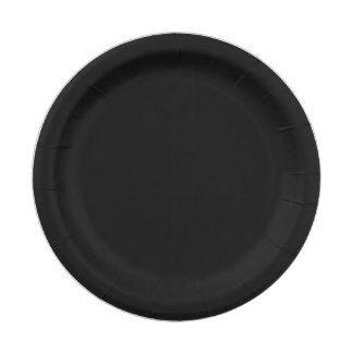 Custom Black Paper Plate 7 Inch Paper Plate