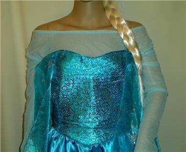 frozen dress pattern | Frozen Elsa Snow Queen Inspired Dress Gown Costume, Adult, Your Custom ...