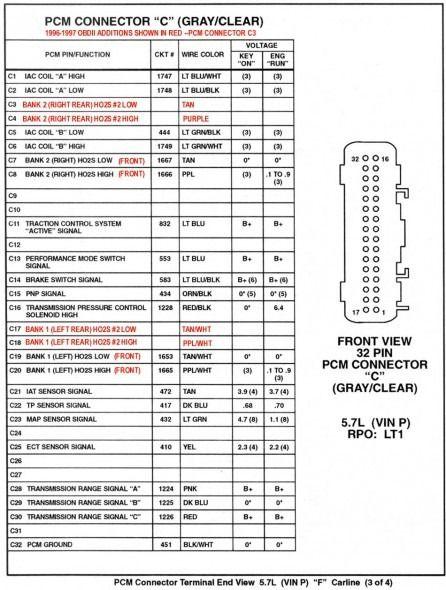 Ls1 Ecu Wiring Diagram | Chevy trucks, Body tech, Trucks