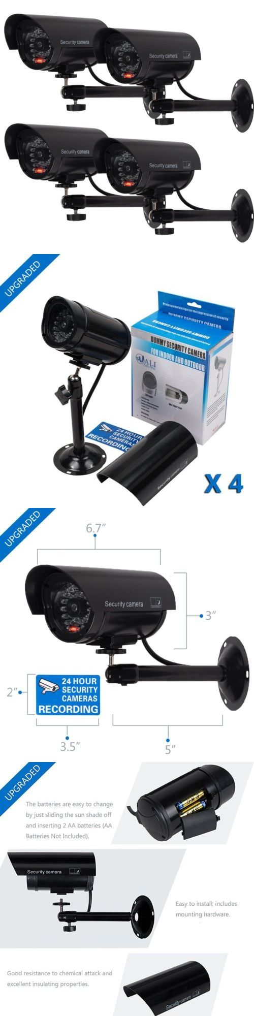 Dummy Cameras: Wali Bullet Dummy Fake Surveillance Security Cctv Dome Camera Indoor Outdoor ... BUY IT NOW ONLY: $31.99