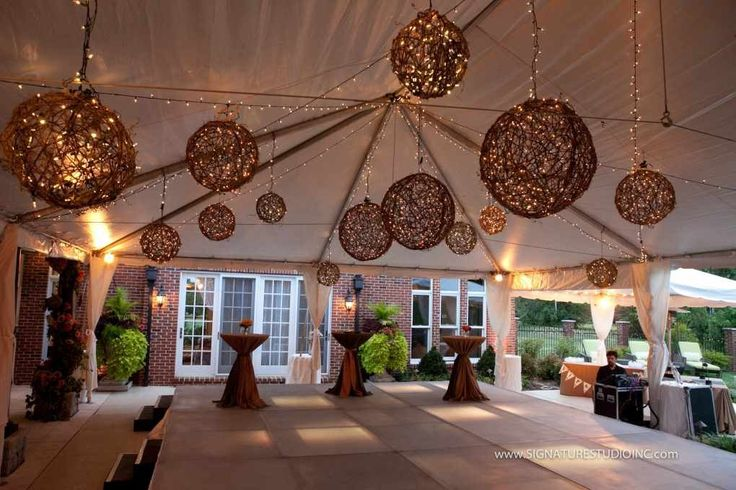 Outdoor Party Lighting Ideas | Church Anniversary Decor Ideas