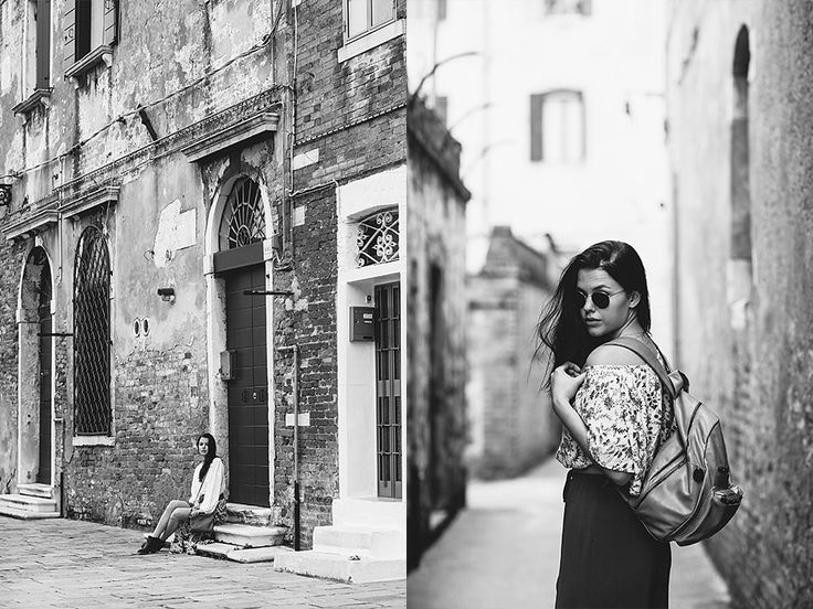 The Venetian passport travel clutch in tan leather and The Californian backpack in tan leather. Shot in Venice by Cassandra Ladru wandererstravelco.com