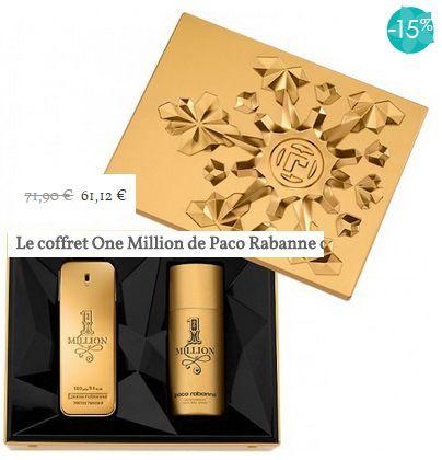 coffret one million paco rabanne #parfum #homme à tarif promo