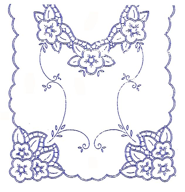 UBRUSY | Ubrus 90x50cm K | Ubrus K 281 | Předtisky na vyšívání - Olga Synková Helga