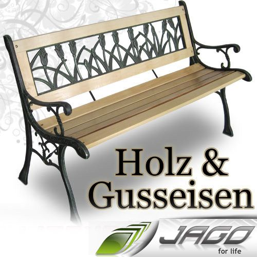 parkbank gusseisen holz 092243 eine. Black Bedroom Furniture Sets. Home Design Ideas