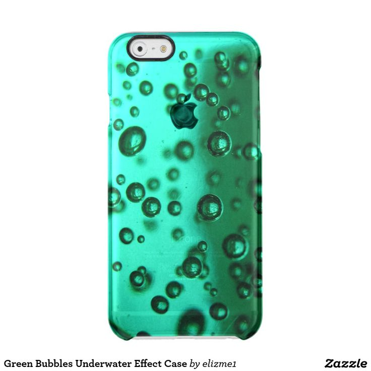 """Green Bubbles Underwater Effect Case A transparent phone case in green with an image that gives it a mysterious underwater bubble effect. You can personalize it with your name by clicking on """"Customize it""""."""