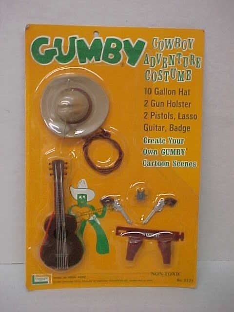 Vintage 1965 Lakeside Gumby Cowboy Adventure Costume Mint on Card in | eBay
