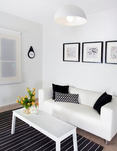 ikea white klippan living room - Google Search