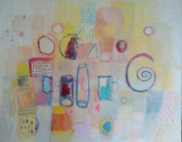 Kobus.m, abstract painting, acrylic painting,#PicsArt, still life