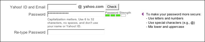 yahoo password strength meter