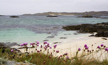 Away from it all: the isle of Coll in the Inner Hebrides. Photograph: Murdo Macleod for the Observer