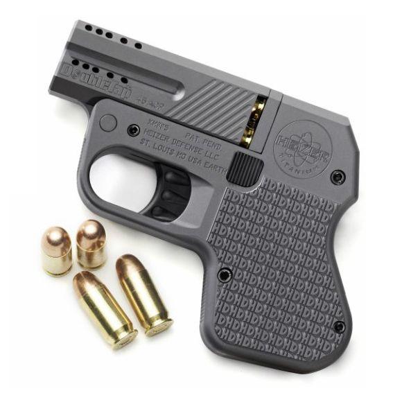 Ecco questa è la pistola più piccola e leggera del mondo te la porti nella tasca del 5 tasche poi sai che sorpresa ci sono due amichetti calibro...