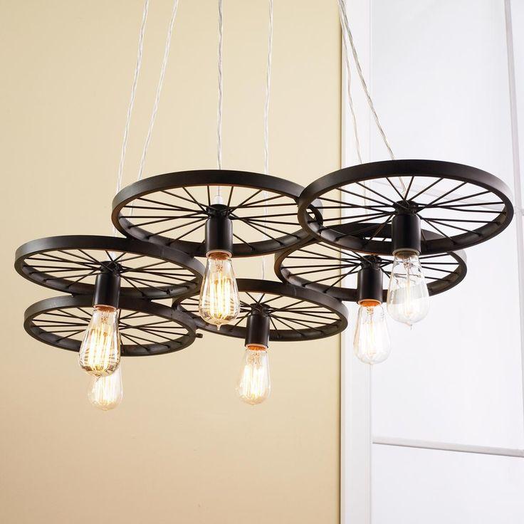 Lighting Warehouse Hendrik Potgieter: Vintage Spoke Wire Wheel Chandelier