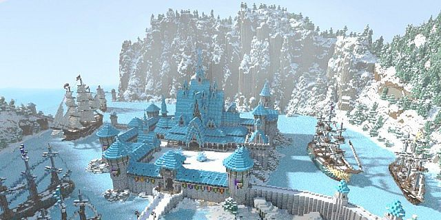 Minecraft Frozen - Arendelle Minecraft Project