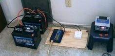 How to build an simple Off Grid Electricity Generation System using Two Batteries