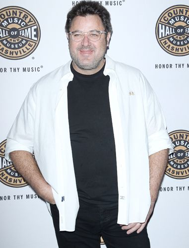 Vince Gill arrives at the Country Music Hall of Fame  in Los Angeles, California.