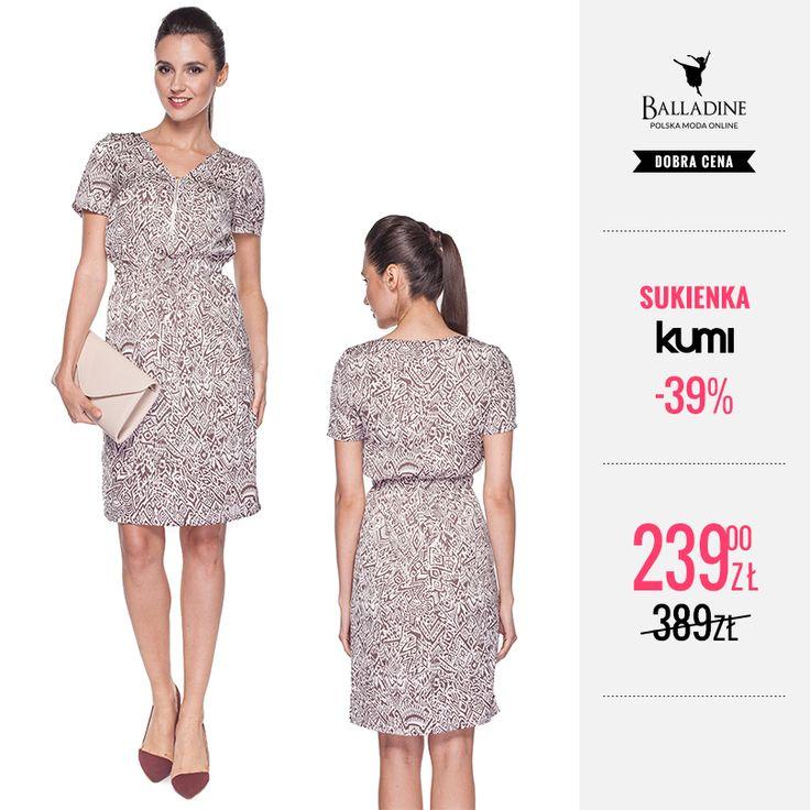 Bądź modna latem i nie przegap cenowej okazji! Sukienka w etniczne wzory marki Kumi doskonale wpisuje się w panujące trendy.  Sukienka Kumi | http://goo.gl/wpQGQj