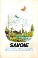 Alpes, paysage de Savoie - Affiche pour la SNCF, par Georges Capon (1956)