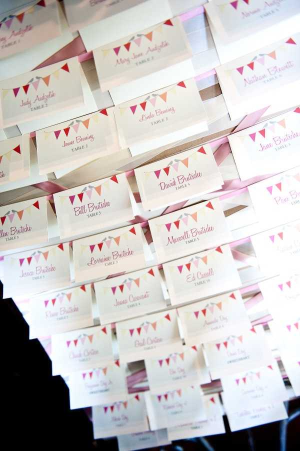Ribbon and cute flag bunting cards. Printable from @wedding chicks Photography by cardensphotography.com,